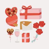 Essentials de la Saint-Valentin de vecteur