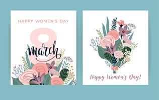 Journée internationale de la femme. Modèle de vecteur