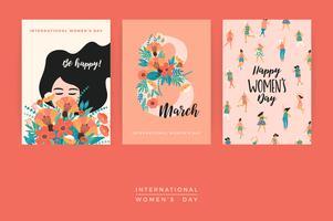 Journée internationale de la femme. Modèles de vecteur.