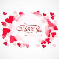 Carte de Saint Valentin avec fond de coeurs vecteur