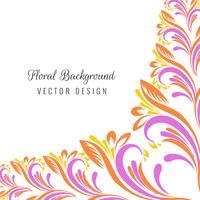 Illustration de design floral coloré décoratif vecteur