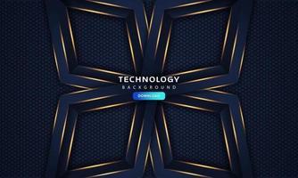 résumé, bleu foncé, cadre, luxe, design, concept, innovation, fond vecteur