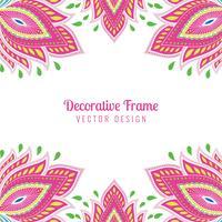 Fond de carte floral coloré de belles œuvres d'art artistique vecteur