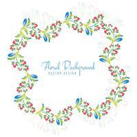 Conception de cadre floral coloré bel ornement décoratif vecteur