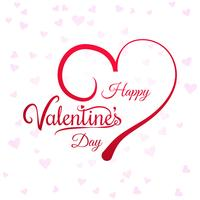 Coeurs pour fond de carte de la Saint-Valentin vecteur