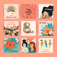 Journée internationale de la femme. Modèles de vecteur. vecteur