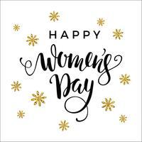 Journée internationale des femmes. Conception de lettrage pour bannières, prospectus, vecteur