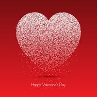 Coeur de points pour la Saint Valentin