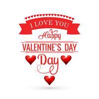 Fond de carte belle Saint Valentin avec conception de coeurs vecteur