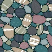 bannière colorée avec les pierres vecteur