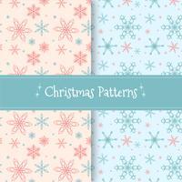 Collection de Noël Patern mignon avec des flocons de neige vecteur