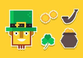 St Patrick's Day Clipart Set vecteur