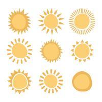 Soleils Abstraits vecteur