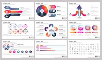 Éléments modernes d'infographie pour les modèles de présentations