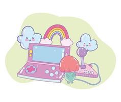console de contrôle jeu vidéo vecteur