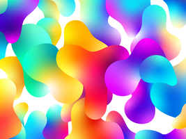 Design de fond de couleur liquide vecteur