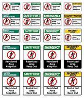 zone réglementée garder hors signe symbole sur fond blanc vecteur