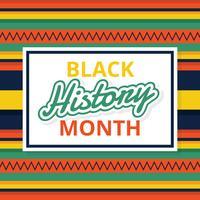Mois de l'histoire noire Vector