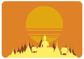 Vecteur coucher de soleil bangkok
