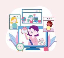 apprentissage en ligne éducation en ligne vecteur
