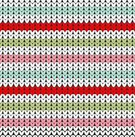 Illustration vectorielle de lignes de couleur tricotées sans couture vecteur