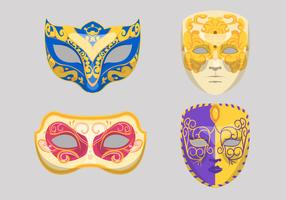 illustration vectorielle de carnaval di venezia masque