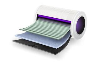 feuille de filtre uv purificateur d'air vecteur