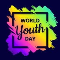 Vecteur de la journée mondiale de la jeunesse