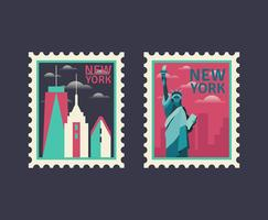 Timbres de New York vecteur