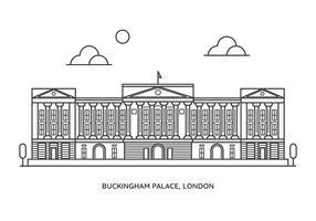 Le palais de Buckingham vecteur