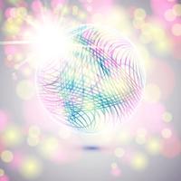 Sphère de verre de vecteur