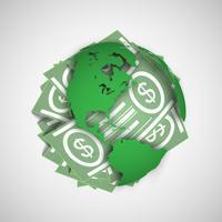 Terre et argent vector illustration