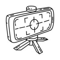 icône de lentille de mise au point. doodle dessinés à la main ou style d'icône de contour vecteur