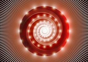 Spirale rouge abstraite vecteur