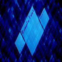Modèle de vecteur bleu pour la publicité