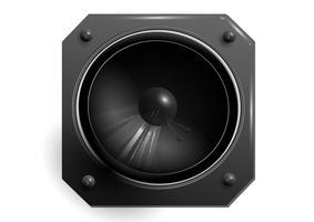 Haut-parleur noir vecteur