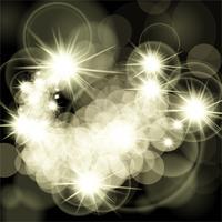 Étoiles brillantes sur fond noir vecteur