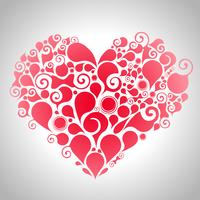 Coeur rouge abstrait