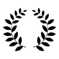 silhouette de couronne de laurier isolé sur fond blanc. illustration vectorielle vecteur