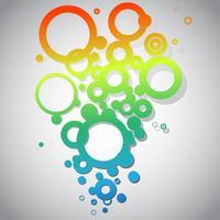 Vecteur de cercles noir et blanc abstrait