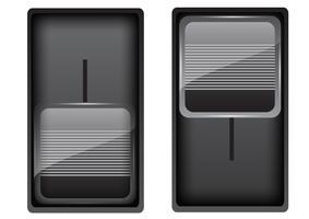 Interrupteurs noirs, illustration vectorielle