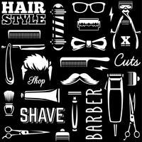 Outils de coiffeur seamless texture vecteur