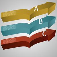 Illustration vectorielle de flèches 3d