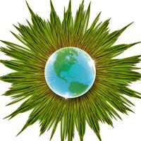 Illustration vectorielle herbe et terre
