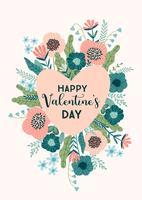 Concept de design floral pour la Saint-Valentin et d'autres utilisateurs. vecteur
