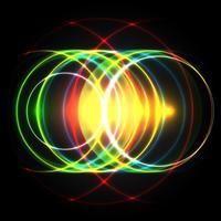 Cercles de vecteur coloré brillant