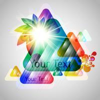 Triangles colorés 3D