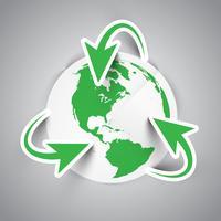 Symbole de la terre de recyclage vecteur