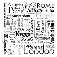 Vecteur des capitales européennes eps10