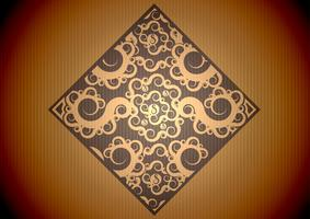 Vintage motif marron